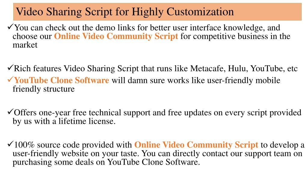 PPT - YouTube Clone Software - (Php Scripts Mall) - Online Video