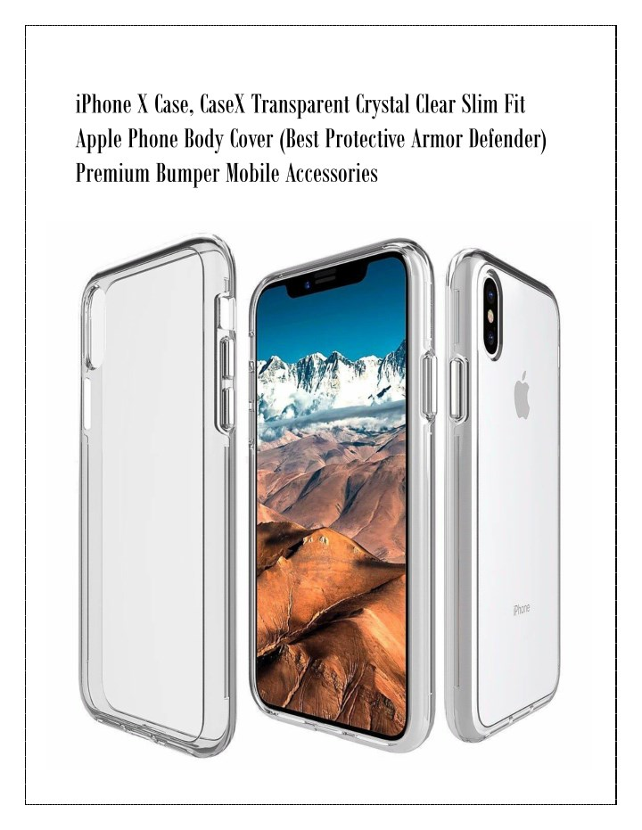 iphone x case casex transparent crystal clear n.