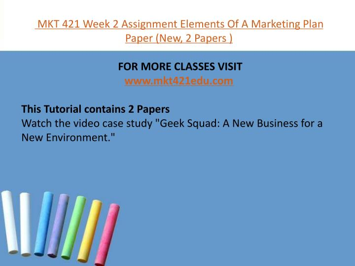 mkt 421 week 5 individual assignment environmental Tutorialrank is a online tutorial store we provides mkt 421 week 3 individual assignment marketing research paper (uop course.