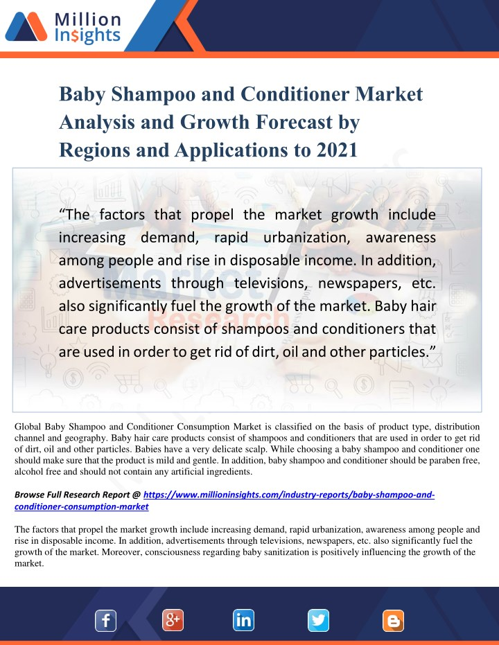 baby shampoo and conditioner market analysis n.