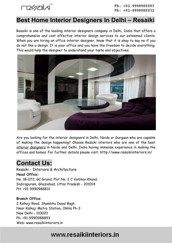 Ppt Best Home Interior Designers In Delhi Resaiki Powerpoint Presentation Id 7696613