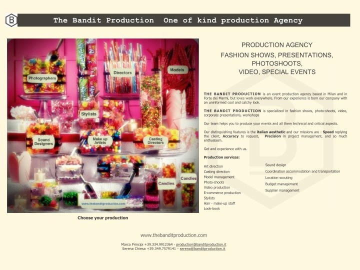 the bandit production one of kind production n.