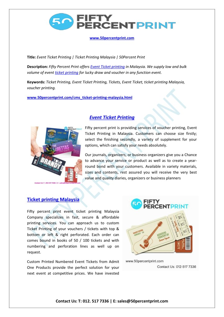 ppt ticket printing malaysia 50percent print powerpoint