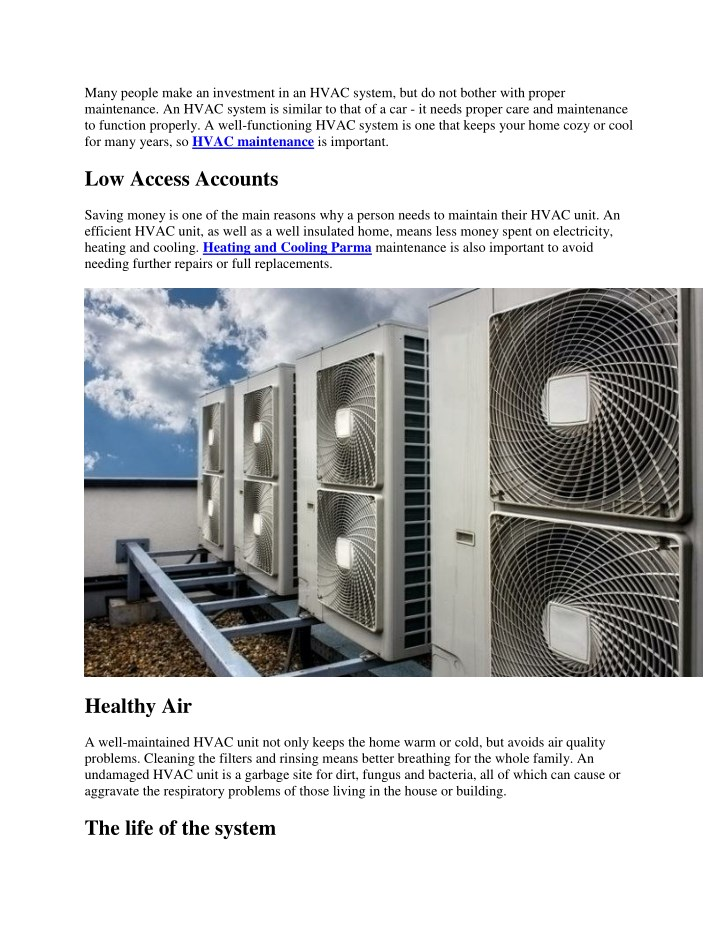 many people make an investment in an hvac system n.
