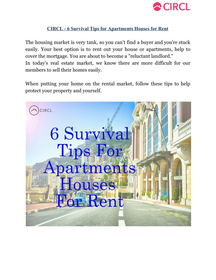 circl 6 survival tips for apartments houses n.