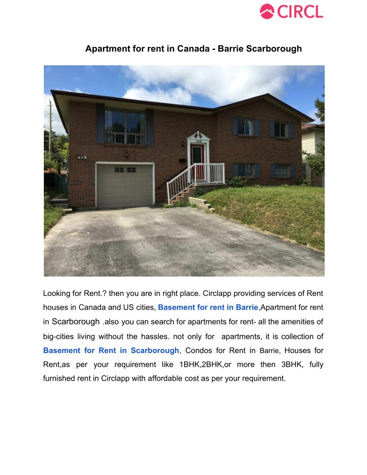PPT - Apartment for rent in canada barrie scarborough ...