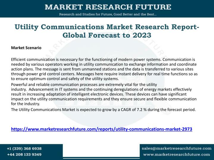 utility communications market research report global forecast to 2023 n.
