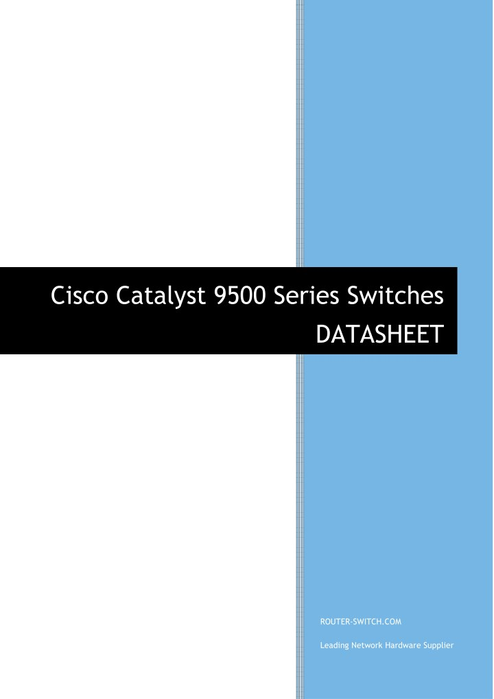 PPT - Cisco Catalyst 9500 Series Switches datasheet
