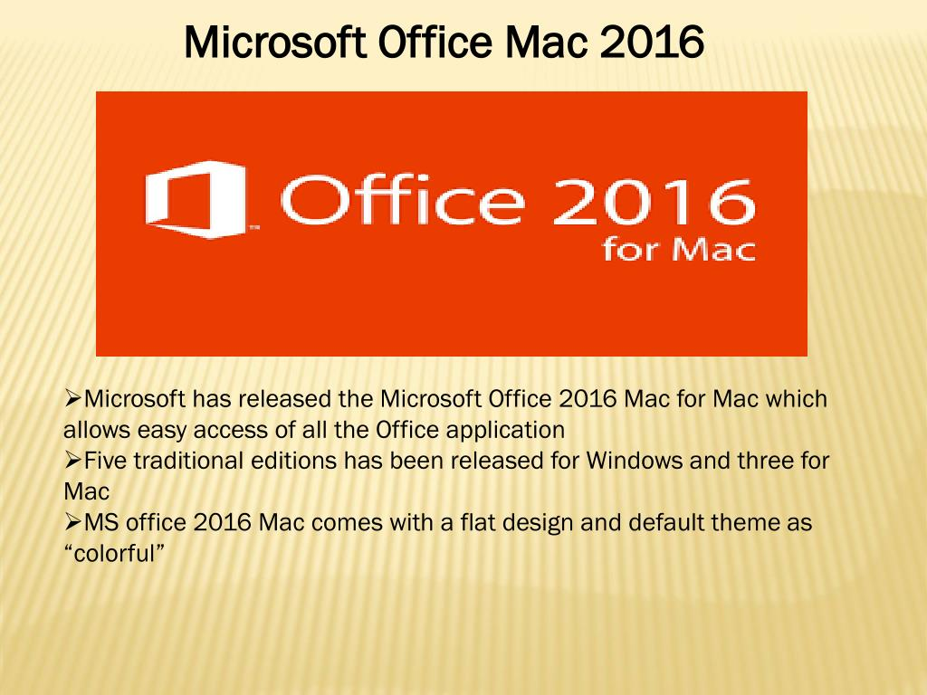 PPT - Microsoft Office 2016 Installation For Mac PowerPoint
