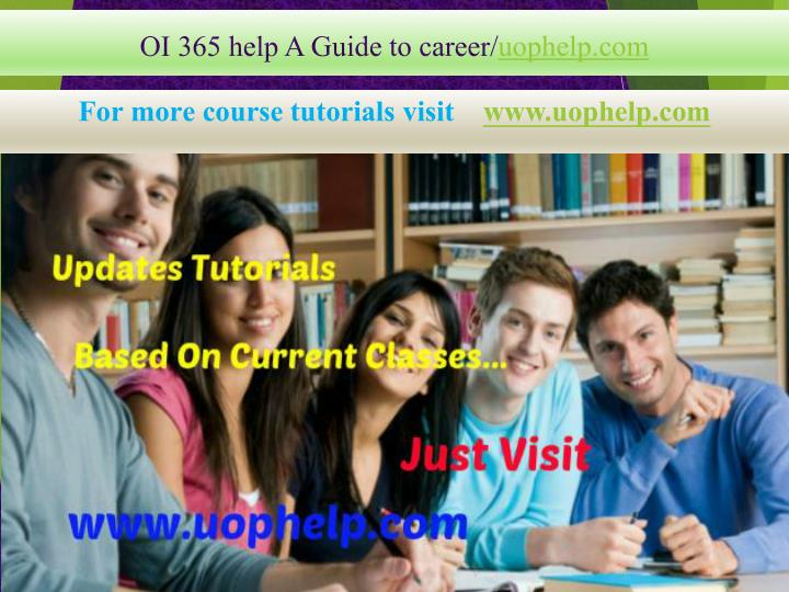 oi 365 help a guide to career uophelp com n.