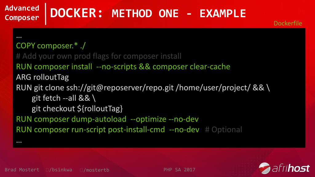 PPT - Advanced Composer - A Lot More Than Just 'Install' and