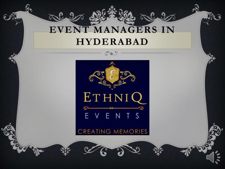 event managers in hyderabad n.