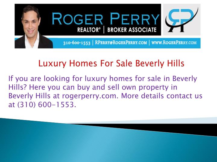 luxury homes for sale beverly hills n.