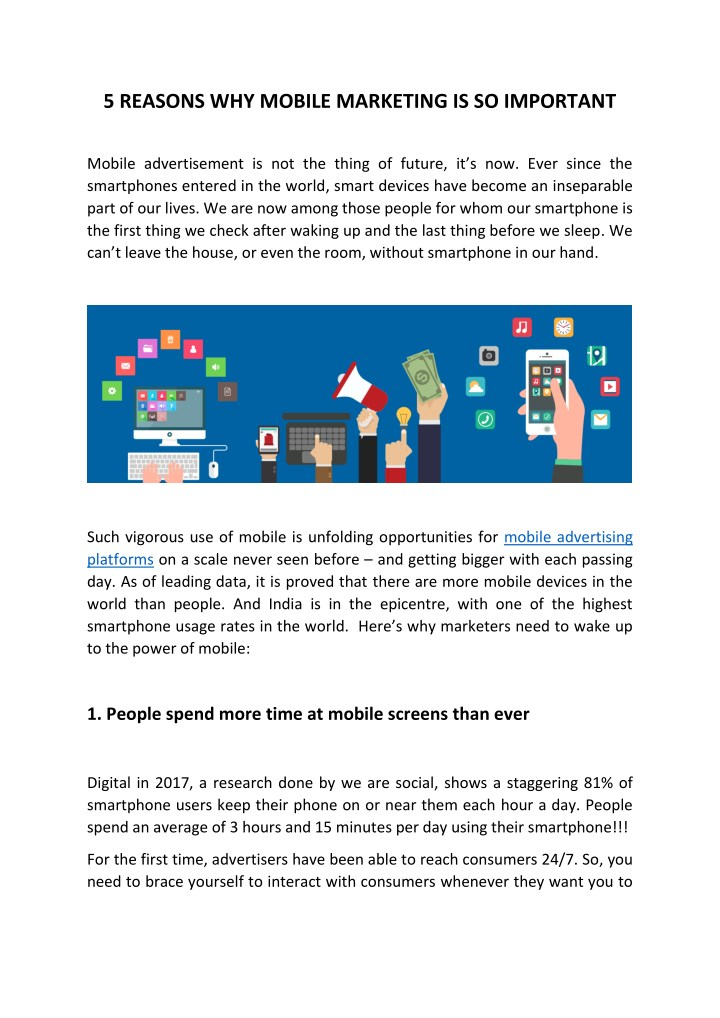 5 reasons why mobile marketing is so important n.