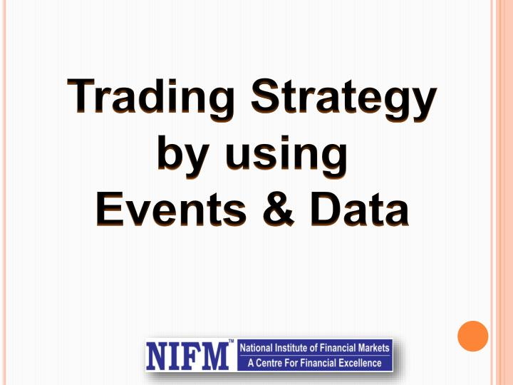 trading strategy by using events data n.