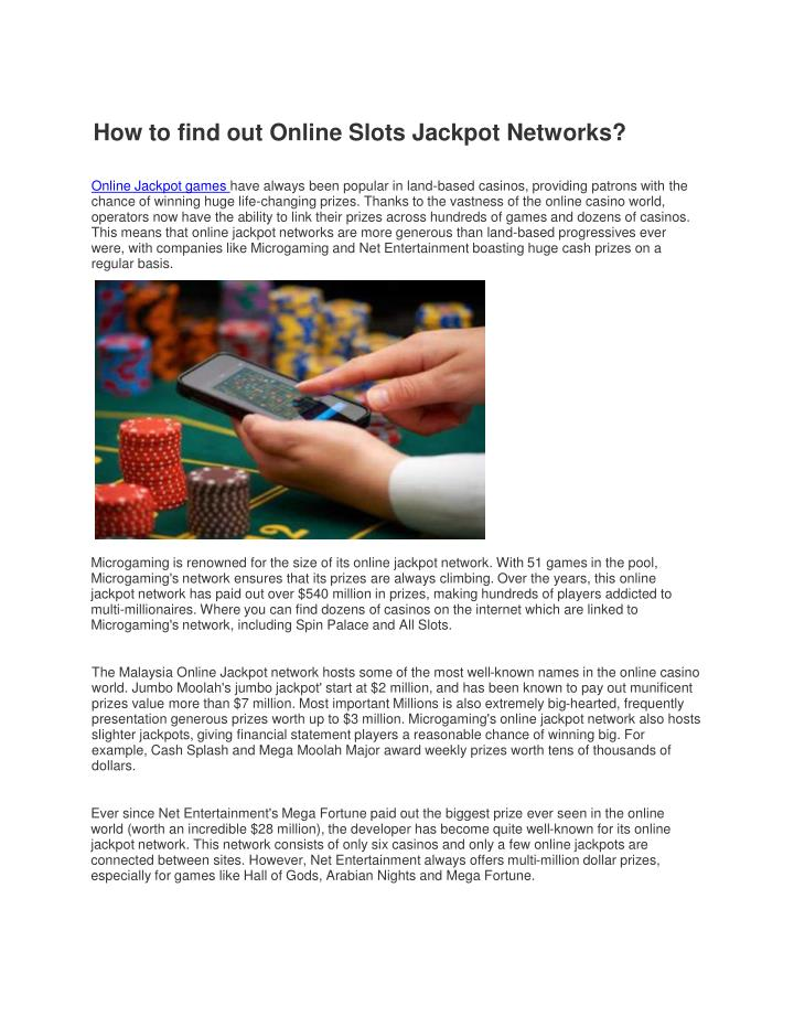 Ppt How To Find Out Online Slots Jackpot Networks Powerpoint