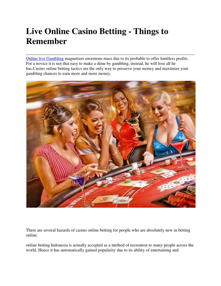 live online casino betting things to remember n.