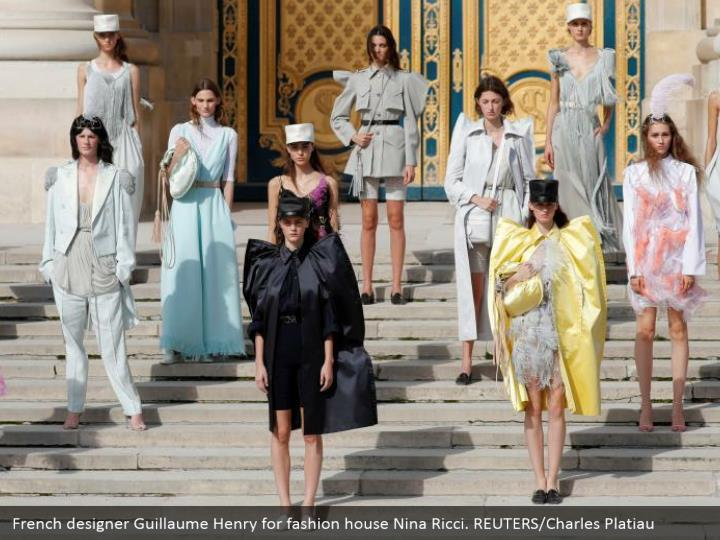 French designer Guillaume Henry for fashion house Nina Ricci. REUTERS/Charles Platiau