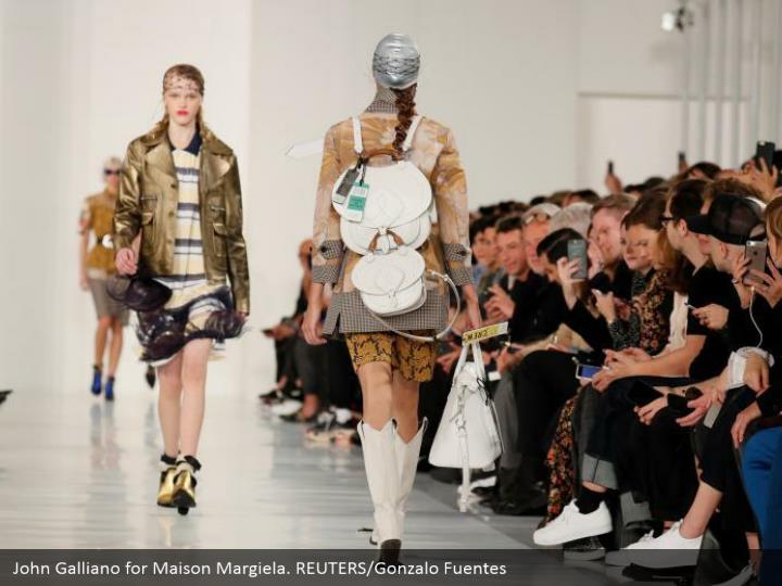 John Galliano for Maison Margiela. REUTERS/Gonzalo Fuentes