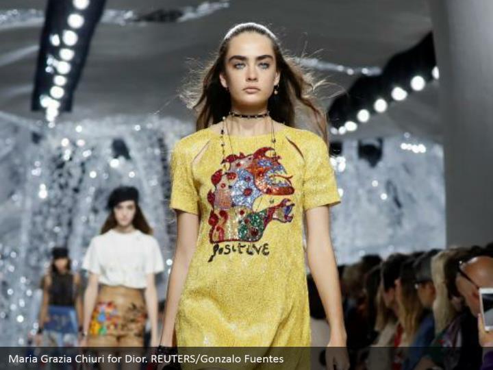 Maria Grazia Chiuri for Dior. REUTERS/Gonzalo Fuentes
