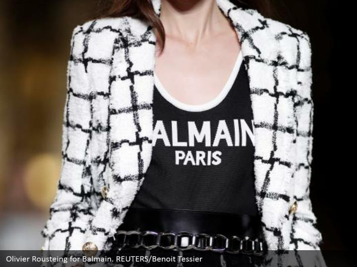 Olivier Rousteing for Balmain. REUTERS/Benoit Tessier