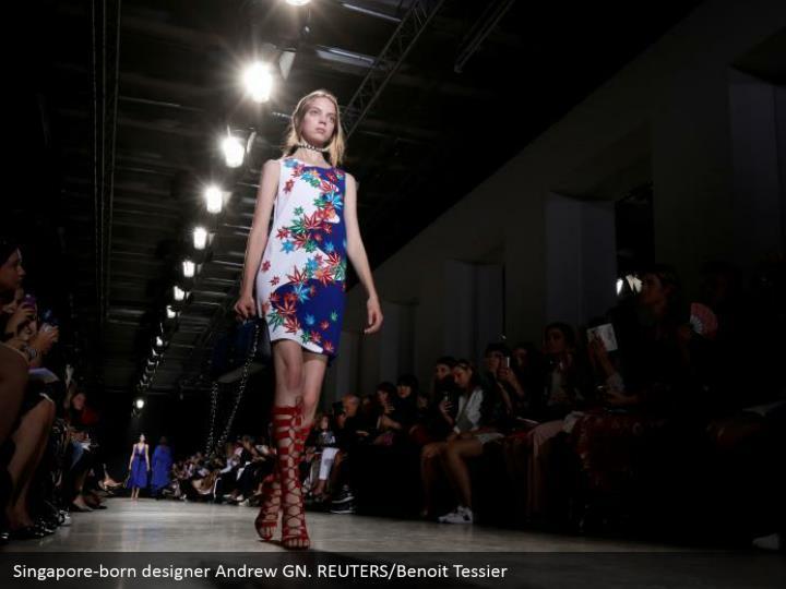 Singapore-born designer Andrew GN. REUTERS/Benoit Tessier