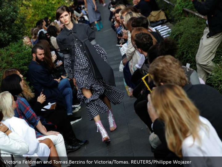 Victoria Feldman and Tomas Berzins for Victoria/Tomas. REUTERS/Philippe Wojazer