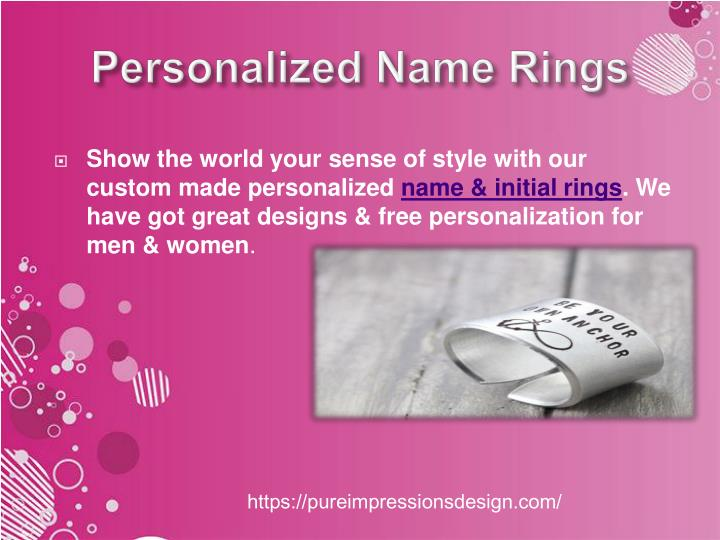 personalized name rings n.