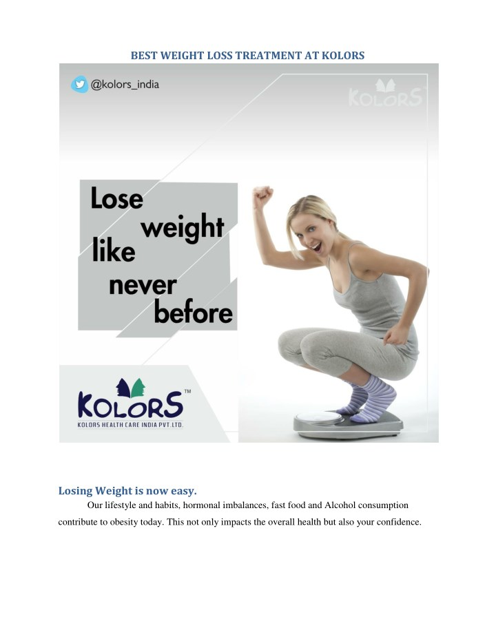 PPT - Best weight loss Treatment at Kolors PowerPoint Presentation