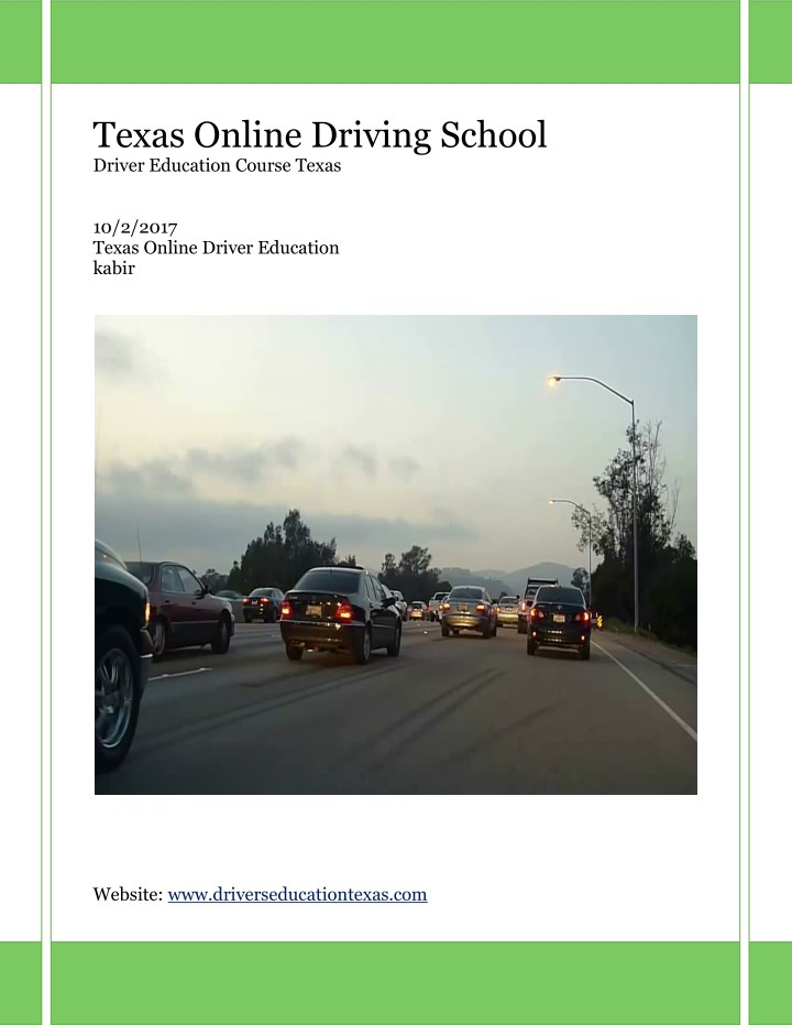 Drivers Ed Online >> Ppt Texas Drivers Ed Online Powerpoint Presentation Free
