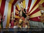 an artisan prepares an idol of the hindu goddess