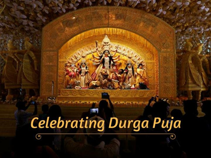 celebrating durga puja n.