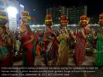 hindu devotees perform garba a traditional folk 1