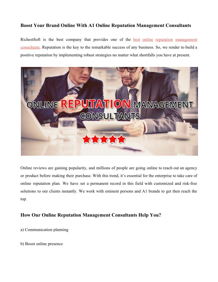 boost your brand online with a1 online reputation n.