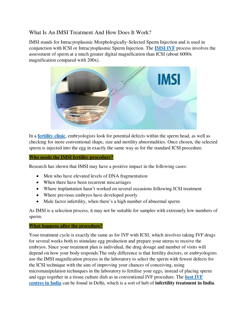 PPT - What Is An IMSI Treatment And How Does It Work