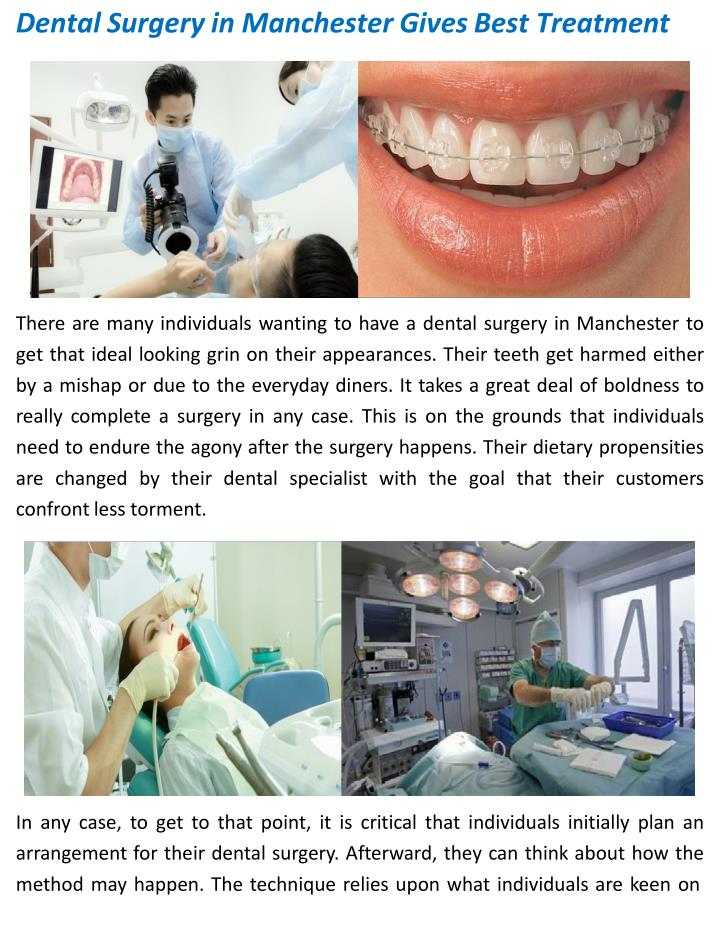 dental surgery in manchester gives best treatment n.