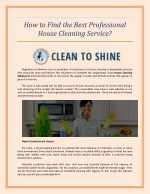 how to find the best professional house cleaning