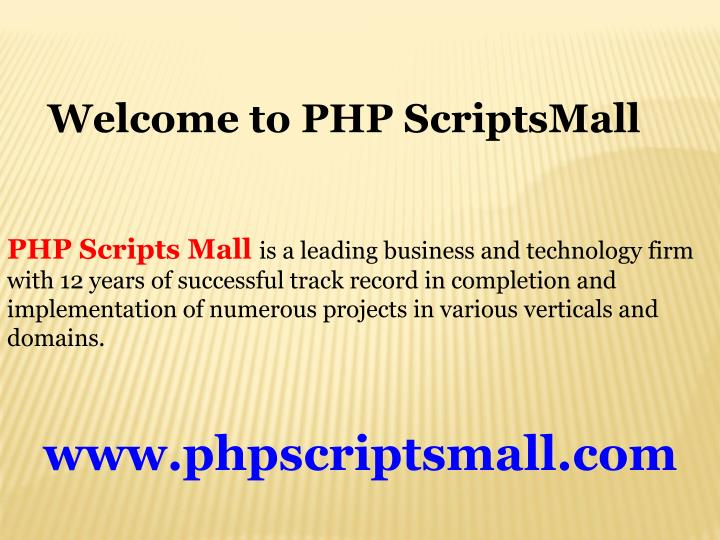welcome to php scriptsmall n.