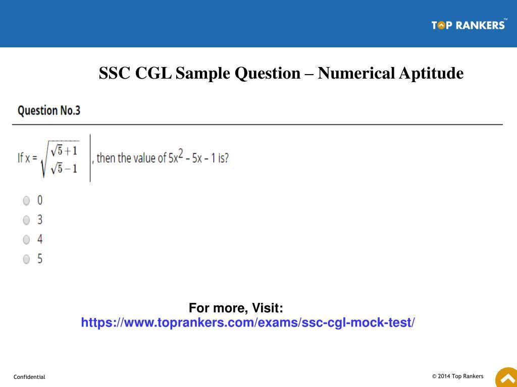 PPT - SSC CGL Free Mock Test PowerPoint Presentation - ID:7707418