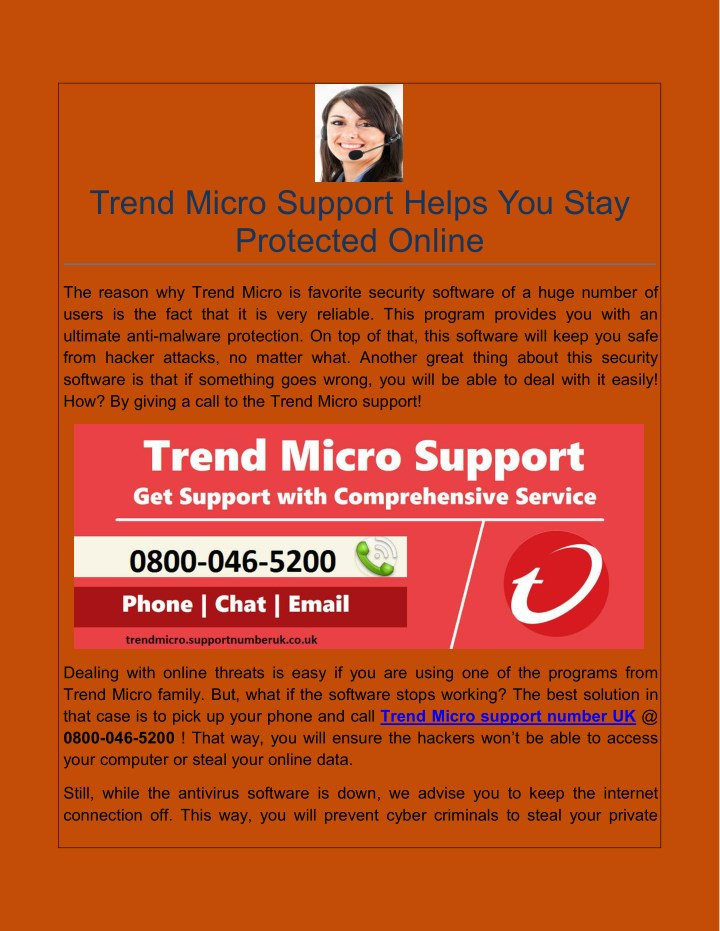trend micro support helps you stay protected n.
