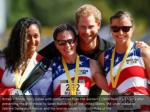 britain s prince harry poses with competitors