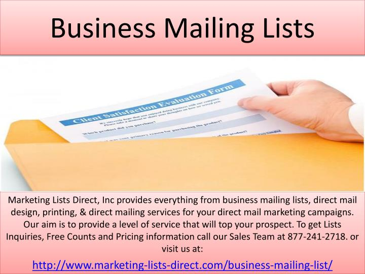 Ppt Business Mailing Lists Point