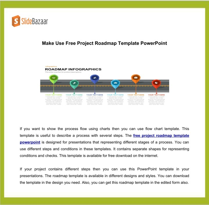Ppt Make Use Free Project Roadmap Template Powerpoint Powerpoint
