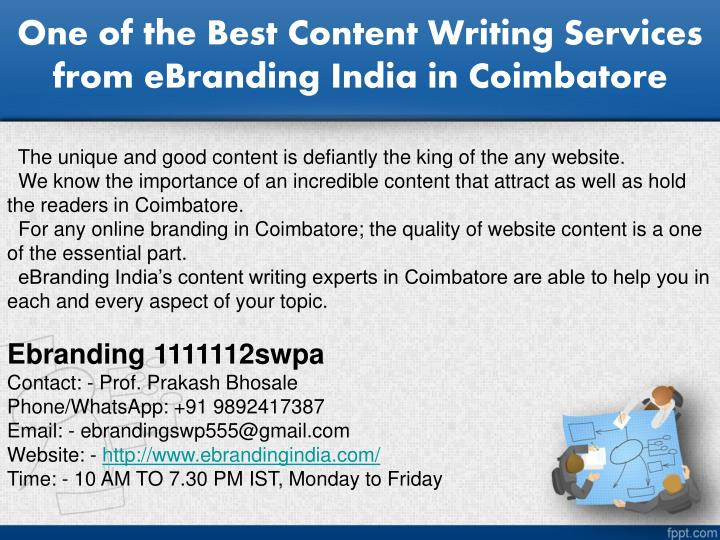one of the best content writing services from ebranding india in coimbatore n.