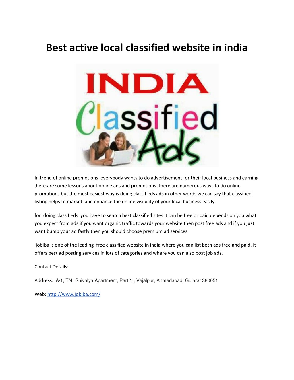 PPT - Job Posting sites in India, free ad posting site in