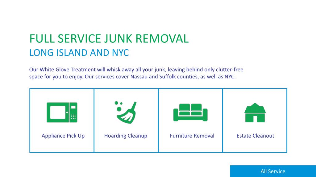 Ppt Junk Removal Hauling Services, Furniture Removal Long Island