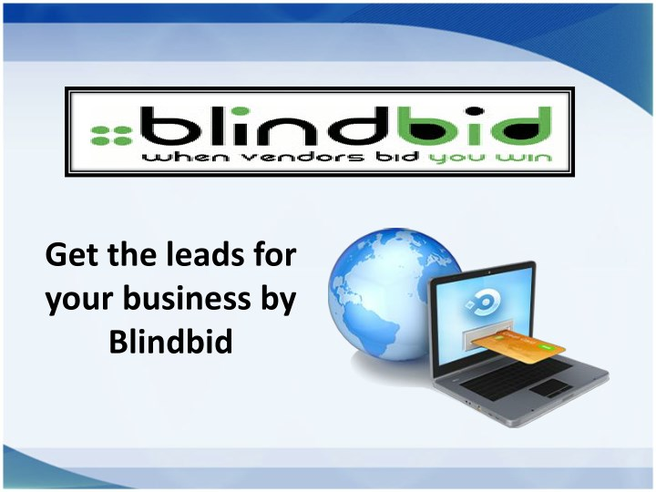 get the leads for your business by blindbid n.