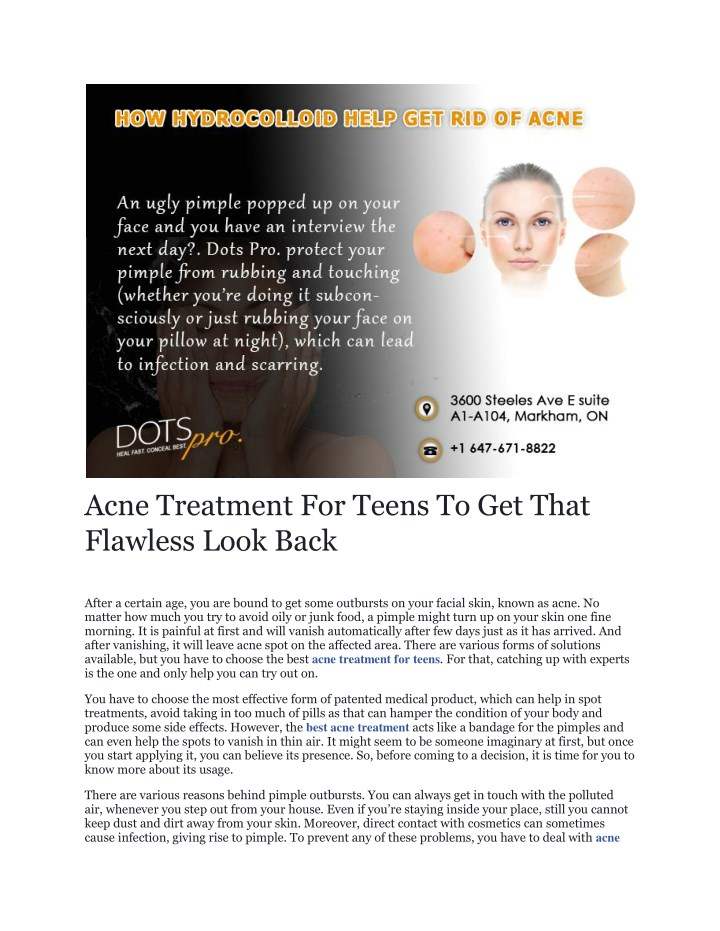 acne treatment for teens to get that flawless n.