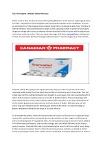 tips to recognize a reliable online pharmacy