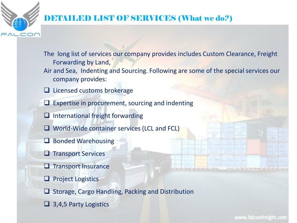 List Of Freight Forwarders